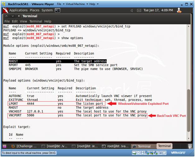 how to use bind tcp metasploit