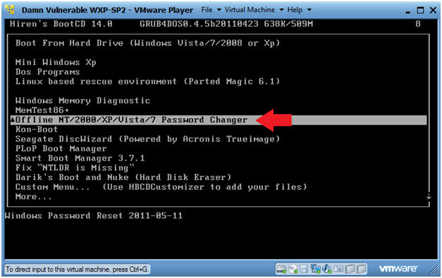 how to remove password in windows 7 using hirens