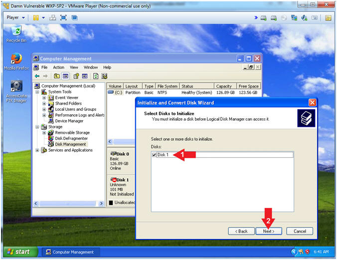 FTK Imager: Lesson 2: Create Virtual Hard Drive, Delete File
