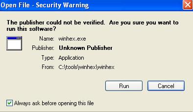 Forensics: WinHex: Very Basic Byte Level Checking