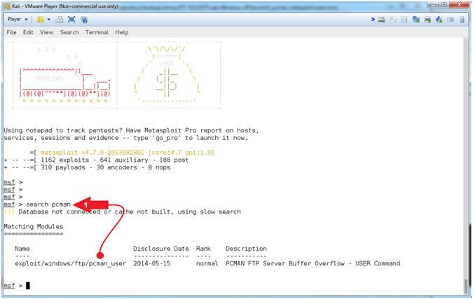 Buffer Overflow: Lesson 2: Create PCMan Metasploit Module, Attack