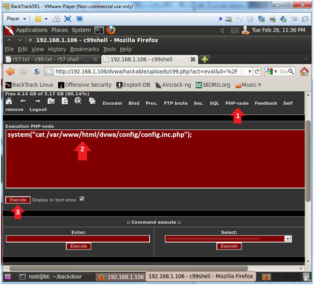 Damn Vulnerable Web App (DVWA): Lesson 14: Upload and use C99 php