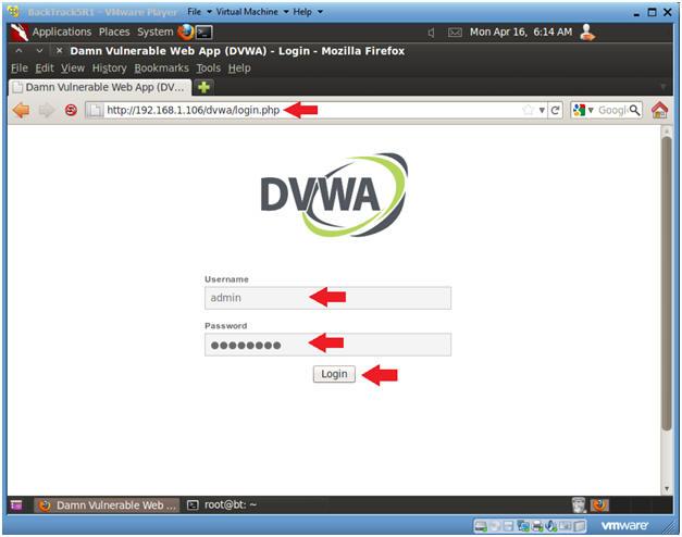 Damn Vulnerable Web App (DVWA): Lesson 8: Upload PHP Backdoor Payload