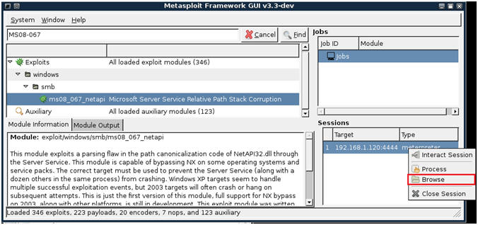 Hack Web Server THEROCK v1 { Using the MsfGUI to Grab A Shell and