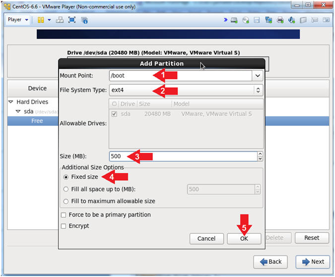how to create a filesystem in centos