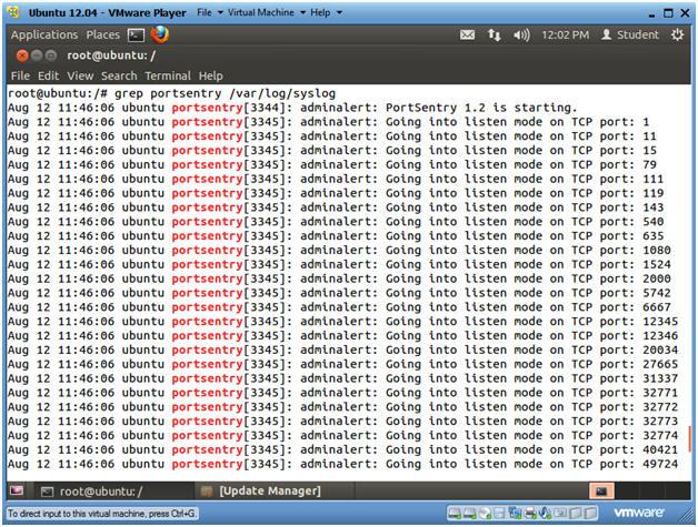 Ubuntu: Lesson 14: Installing and Testing PortSentry against NMAP