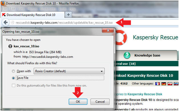 kaspersky rescue disk 18 iso